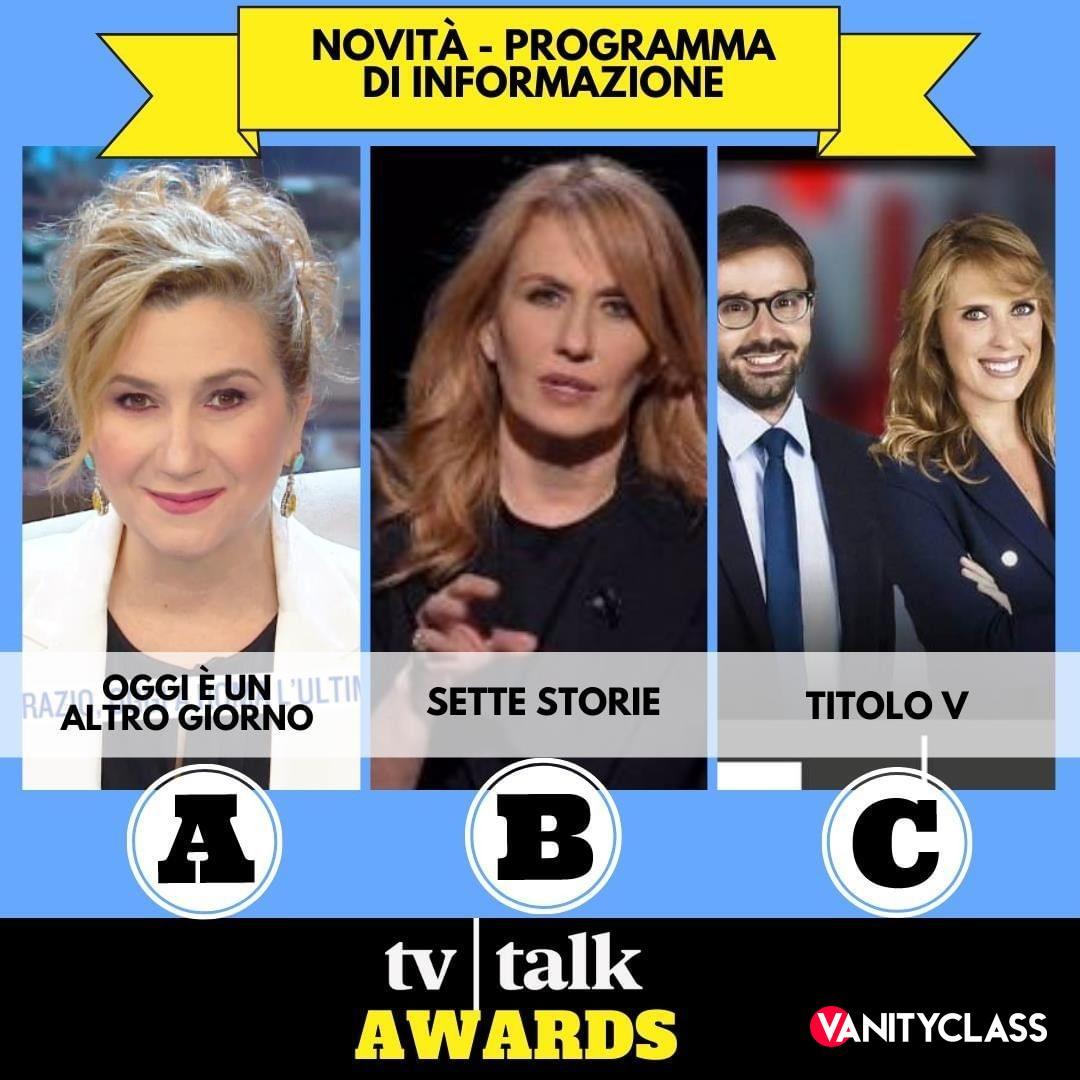 """Tv Talk Awards: """"I premi dedicati alle migliori novità televisive dell'anno."""""""