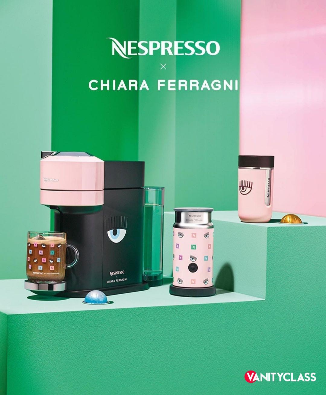 """Chiara Ferragni e Nespresso lanciano la """"Summer coffee collection"""""""