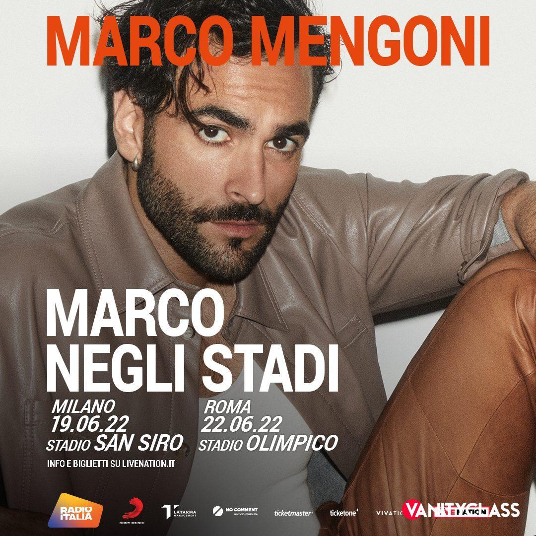 Marco Mengoni annuncia i suoi primi live negli stadi per l'estate 2022.