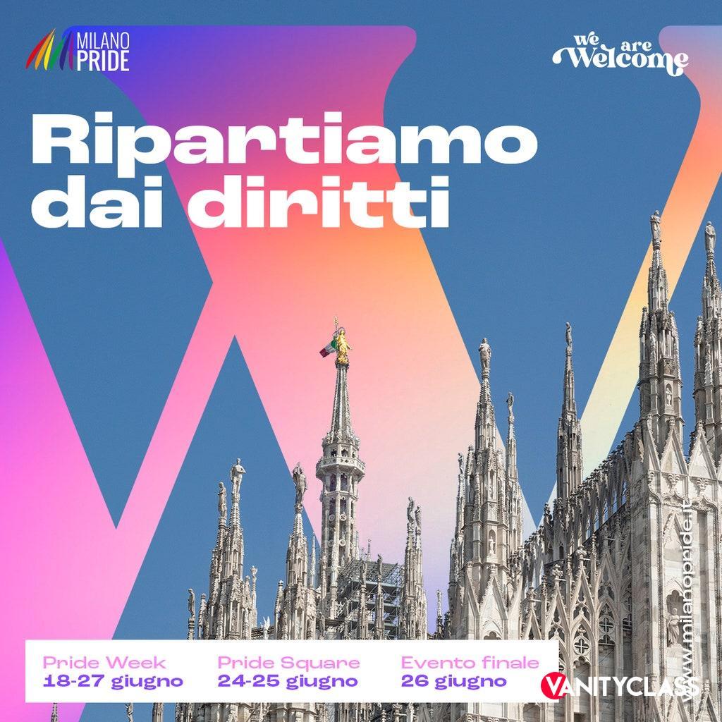 """Pride Milano 2021: """"RIPARTIAMO DAI DIRITTI"""""""