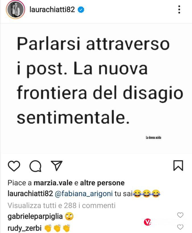 Laura Chiatti lancia una frecciata a Marco Bocci sui social