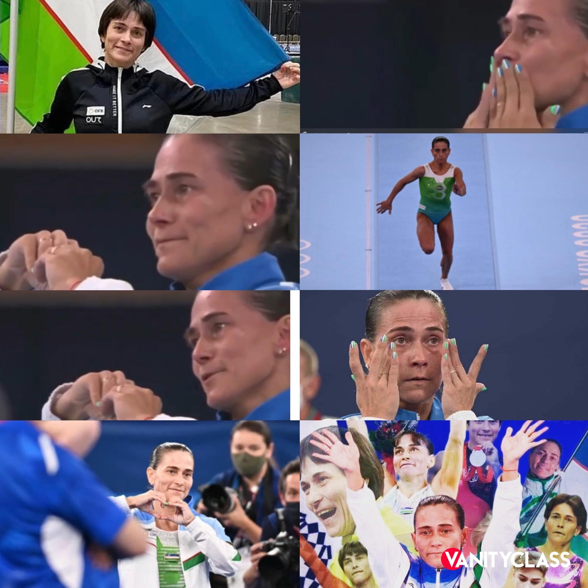 Oksana Čusovitina nella leggenda Olimpici