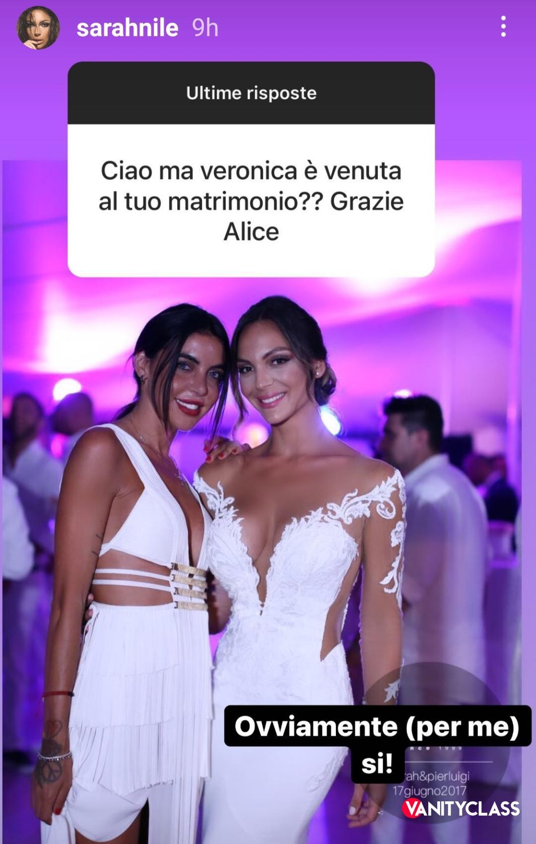 Sarah Nile delusa dall' amica Veronica Ciardi