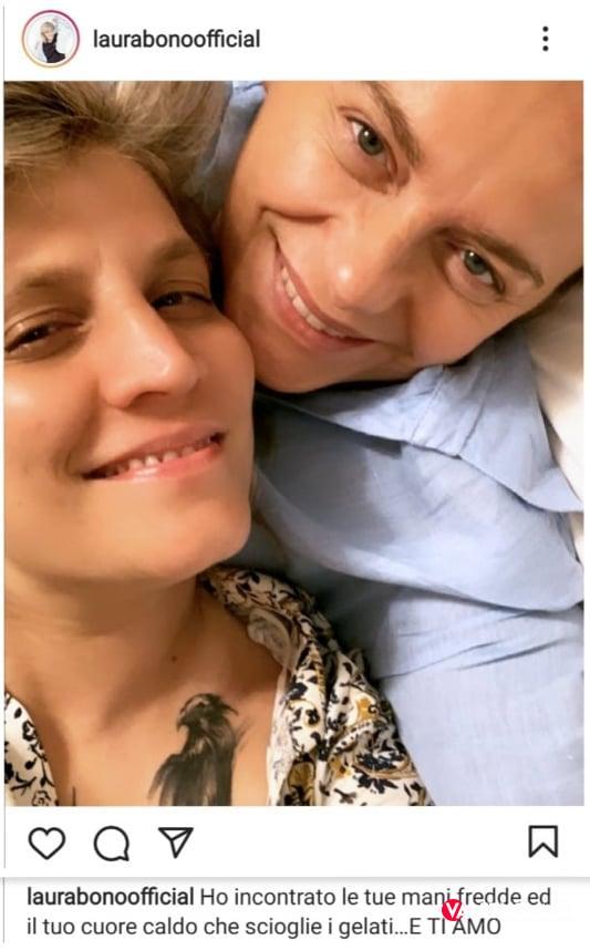 Laura Bono regala una dolce dedica d'amore alla sua Federica